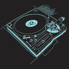 DJ TURNTABLE T-shirt deejay deck techno house record collector CHOOSE SIZE S-XXL