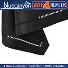 Sienna Black Polyester Table Cloth Christmas Xmas Party Catering Birthday Dining