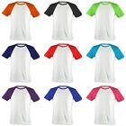 Lovely Kids Casual Cotton 100% Raglan T-Shirts All Colours Tops.(Sz) 3~12 Years
