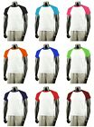 New Short-Sleeve Baseball T-Shirts Raglan Jersey Tee All Colours Tops.(Sz) XS-XL