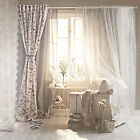 IKEA INGMARIE floral curtains 1 pair for fairy light shabby bedroom tie-backs