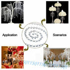 New Faux Crystal Octagon Beads Chain Chandelier Prisms Hanging Wedding Garland