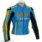 MotoGP RIZLA BLUE GSX R Super Sport Motorbike Motorcycle CE Leather Biker Jacket
