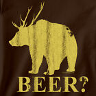 BEER deer bear T-SHIRT fishing gift fish camo redneck college funny hunting duck