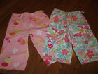 NWT Gymboree Capri Pant Pink Rainbow Sherbet or Blue Butterfly Girl sz 18-24 mos