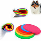 6 Color Pet Dog Flying Disk Tooth Resistant Training Fetch Funny Toy Play Rubber