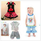 Baby Kids Boys Girls Summer Clothing Set