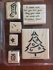 STAMPIN UP A CHRISTMAS WISH Set Stamps Christmas Holiday Stocking Tree Star Gift