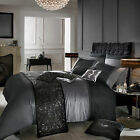Designer Kylie Minogue ISLA Black/Slate Grey Bed Linen Bedding Duvet Cover New