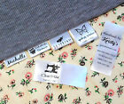 30x Custom clothes name label sew in hanging tag garment school Personalized