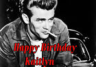 James Dean Personalized Birthday Frosting Sheet Cake Topper