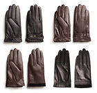 Mens Real Leather Sheepskin Gloves Black and Brown