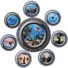 Fish/Ship 3D Ocean View Porthole Wall Stickers Decal Sea Cruise Mural Art Decor $4.79 USD