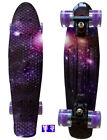 "LMAI 22''/27"" Cruiser Skateboard Graphic Penny Style Galaxy Purple Starry Board  image"