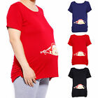 Women's Maternity Baby Peeking Funny T-Shirt Pregnancy Pregnant Tee Top