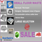 Small Floor Shower Bathroom Drain Grate Waste Tile Insert Heelguard Bermuda S/S