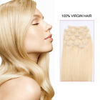 Clip In Human Hair Extensions 18inch 120 grams 100% Remy Hair 7 Pieces Full Head