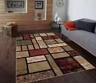 RUGS AREA RUGS CARPET FLOORING 1007 BEIGE MODERN ABSTRACT CARPET LARGE NEW RUG