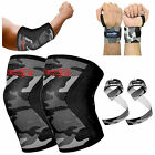 Knee Sleeve Elbow Wrist Powerlifting Weightlifting Straps Patella Support Brace
