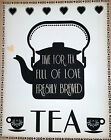 Tea Plaques - Time for Tea and Go on, go on, go on - wooden signs
