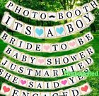 Bride to Be Just Married Baby Shower Wedding Party Bunting Banner Hanging Decor