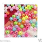 400 Plastic 4mm opaque round bead c173 AB color U PICK