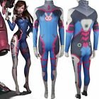 Kids Girls Overwatch D. Va Zentai Jumpsuit Catsuit Comic-con Cosplay Costume