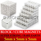 Neodymium Block Magnets *5mm Cube* N35 Super Strong Disc Rare Earth Craft Square