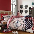 American Freshman COOPER Stars & Stripes USA Bedding Duvet Cover Set!