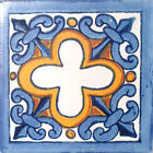 #C013 TILE MEXICAN HAND MADE HAND PAINTED TALAVERA TILES WALL OR FLOOR USE DECOR