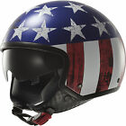 LS2 OF561 Wave  Open Face  Helmet Raw Stars and Stripes