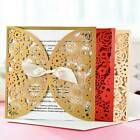 Personalized Wedding Invitation Cards Butterfly Bow Laser Cut Free Envelope Seal