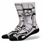 STANCE NEW Men's Star Wars Socks Trooper 2 White BNWT