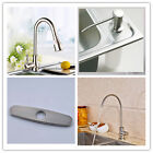Kitchen  Sink Faucet Brushed Nickel Finish / Cover Plate/ Soap Dispenser