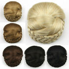 Women's Clip In Braided Hair Bun Chignon Donut Roller Hairpieces 60g/11cm SP159