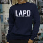Proud Blue LAPD Los Angeles Police Department Womens Navy Sweatshirt