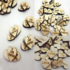 50 PCS Romantic  Mini Rustic Wooden Wedding Table Scatter Decoration DIY Crafts