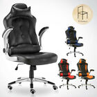 LUXURY SPORTS RACING GAMING CHAIR RECLINER OFFICE COMPUTER SWIVEL HIGH BACK PU