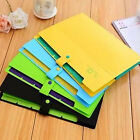 5 Pockets A4 Size Accordion Button Expanding File Folder Holder Organizer Bag #Y