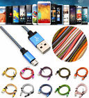 Fast Micro USB A to USB 2.0 Braided Fast Data Sync Charger Cable Cord Universal