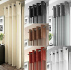 MADEIRA LUXURY VOILE CURTAIN PANEL,VOILE NET CURTAINS,RING TOP,6 MODERN COLOURS