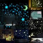 40-100x 3D Stars Glow In The Dark Luminous Fluorescent PVC Wall Stickers 3.8cm H