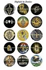 "NEW ORLEANS SAINTS 1"" CIRCLES  BOTTLE CAP IMAGES. $2.45-$5.50 **FREE SHIPPING** $2.45 USD on eBay"