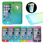 Hybrid 360° Tempered Glass +Acrylic Hard Back Case Cover For iPhone 6 6S Plus 5S