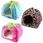 New Strawberry Pet Dog Cat Puppy Bed House Kennel Doggy Cushion Pad S M L ZD