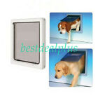 Large /Small  Dog Mate Pet Dog Door Flap For Dogs & Cats White