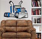 Kenworth Big Rig Truck WALL GRAPHIC FAT DECAL MAN CAVE MURAL 2018  Cartoontees