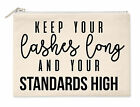 Keep Your Standards High Makeup Bag Heels Makeup Gift Breakup Love Girls  M66