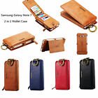 Floveme Classic 2in1 Business Leather Card Wallet Case For Samsung Galaxy Note 7