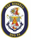 Uss Russell Sticker Military Armed Forces Navy Decal M193